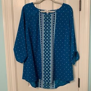 Like New! Croft & barrow Blouse with Rolled Cuffs